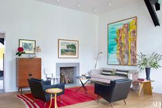 Artist David Salle's Colorful Retreat in East Hampton Photos | Architectural Digest