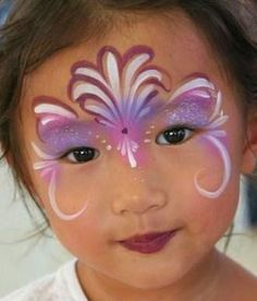 Mooie simpele schmink /   pretty face paint eaay www.hierishetfeest.com