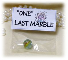 Fun Gag Gift ONE MARBLE by TheCraftBlossom on Etsy