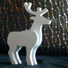 Cristmas Wooden Deer Deer figurine Wooden toys от carpinterowood