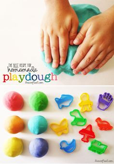 the BEST homemade (no-cook!) playdough recipe!! it is soft, squishy, & moldable – your kids will be entertained for hours with this play dough! | www.livecrafteat.com
