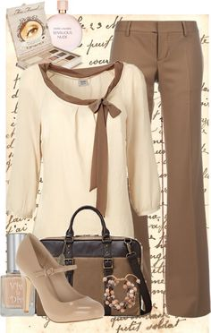 """check out 'The Book of Lo' by R. N. Floyd on Amazon.com! """"Sweet and Chic"""" by irishgrlnextdoor on Polyvore work outfit brown"""