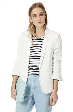 Get Gigi Hadid's date night look with this Topshop Open Front Blazer ($125)