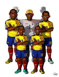 2014 Brazil World Cup 32 teams by Sakiroo Choi, via Behance