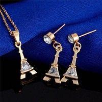 QTY:1Set(Pendant/Necklace/Earrings); Color:2 colors can pick Necklace length:45-50 cm Material:18k g