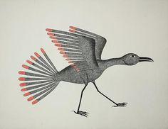Kenojuak Ashevak Drawings (Taking Flight)