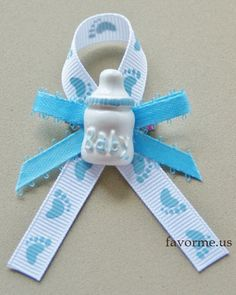 """#04-Guest Pins. Set of 12 Piece """"Bottle"""" Boy Baby Shower Guest Pin On Favors"""