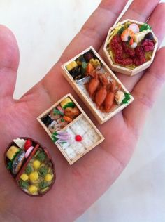 Miniature Japanese Bento Box (Plastic Food)|ミニチュア弁当 :D