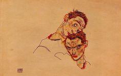 Egon Schiele Double Self Portrait painting for sale - Egon Schiele Double Self Portrait is handmade art reproduction; You can buy Egon Schiele Double Self Portrait painting on canvas or frame. Dessins Egon Schiele, Egon Schiele Drawings, Gustav Klimt, Egon Schiele Zeichnungen, Art Moderne, Art Reproductions, Canvas Art Prints, Online Art, Les Oeuvres