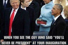 Trump is NOT a president. Obama was right. Trump is a douche elected by douches. He will go down in history as the worst president ever to set foot in the white house. Donald Trump, Trump Is My President, Liberal Logic, Conservative Politics, It Goes On, Obama, Laughter, Presidents, Funny Pictures