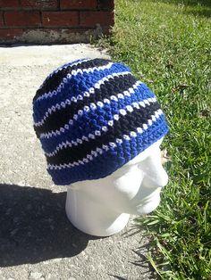 Ravelry: crochets-alot's DADA Oct 2014 - Blue Brain Waves beanie