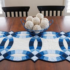 GO! Classic Double Wedding Ring Table Runner Pattern