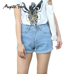 13.80$  Watch here - http://alizgx.shopchina.info/go.php?t=32808710301 - 2017 High Waist Denim Shorts Plus Size Female Loose Short Jeans for Women Summer Ladies Hot Shorts Cuffs Show Silm Pencil Pants  #buyininternet