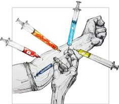 This is another interesting art piece that shows a visual on social media addiction. I like that there is a striking contrast between the gray skin and the colors of the drugs. Satire, Sketch Manga, Social Media Measurement, Social Media Art, Satirical Illustrations, Political Art, Gcse Art, Fantasy World, Medium Art
