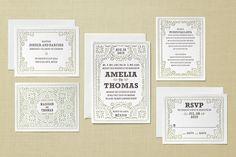 Fiesta Folk Art Letterpress Invitation  |  Minted