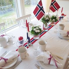 Constitution Day, Friend Recipe, After All These Years, Learn A New Language, Love My Family, Norway, Summertime, Red And White, Table Decorations