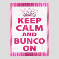 Fun Bunco Invite For A Fun Bunco Theme
