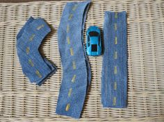 Denim Road for Race Car Quiet Bag - next time I get rid of pants, I'll have to remember this one!