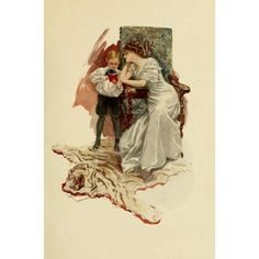 Posterazzi Their Hearts Desire 1909 This is my age-book Canvas Art - Harrison Fisher (24 x 36)