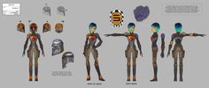 The Lost Commanders Concept Art Gallery | Sabine full chara...