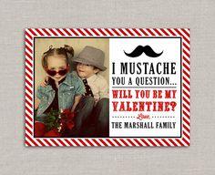 Mustache Valentine's Day Card. $10.00, via Etsy.