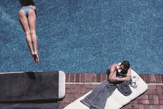 Herb Ritts, Richard Gere – Poolside, 1982 •