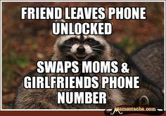 friend leaves phone unlocked / swaps moms & girlfriends phone number