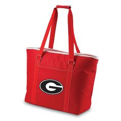 Picnic Time Tahoe Georgia Bulldogs Insulated Cooler Tote, Red