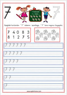 Preschool Math, Math For Kids, Study, Activities, Fine Motor, School, Teachers, Lyrics, Numbers
