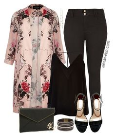 """""""Plus Size Floral Duster - alexawebb.com"""" by alexawebb ❤ liked on Polyvore featuring River Island, Steve Madden, Panacea, Rebecca Minkoff, Jules Smith, BP., plussize, plussizefashion and alexawebb"""