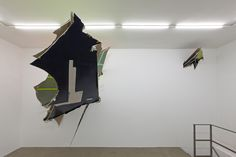 Felix Schramm, Spatial Intersection, 2015, installation view, RIBOT gallery