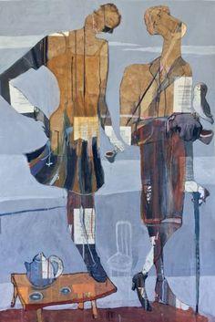 "Saatchi Art Artist Ilya Volykhine; Painting, ""Eloquence, Wit & Reason (No, That's Not An Owl), 2016"" #art"