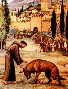 Legend tells us that St. Francis tamed the wolf that was terrorizing the people of Gubbio, Italy, and then the two went on to become friends.  What better way to celebrate the Feast of St. Francis on October 2 - which is also the day for the Blessings of the Animals - than by making Wolf Paw Cookies!