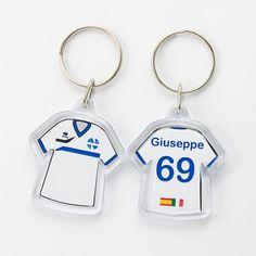 #llavero #camiseta #personalizado para #equipo de #futbol #italia #españa