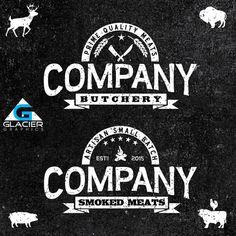 Vintage Custom Meat Company Logo By WAGlacierGraphics