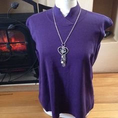 "Coldwater  Creek Top Lovely purple top, sleeveless and can be worn over a long sleeve blouse.  Solid color, perfect for accessorizing.  NWT. Tag has size 3X 24-26.   No trades, Please use ""Offer"" to negotiate.  Bundle and save! Coldwater Creek Tops"