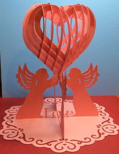 Papercrafts and other fun things: Sliceform Heart Table Decoration
