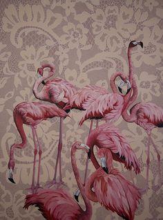 Pink Flamingos,2008. óleo sobre tela, 200x150cm. Coleção Particular by ana elisa egreja, via Flickr