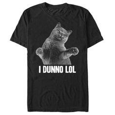 1dae24cc Lost Gods I Dunno Lol Cat Mens Graphic T Shirt - Walmart.com Cat Shirts