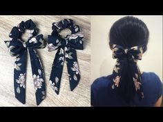 DIY Bow Scrunchies วิธีทำโดนัทรัดผมแบบง่ายๆ - YouTube Diy Lace Ribbon Flowers, Fabric Flowers, Bead Embroidery Patterns, Sewing Patterns, Hand Embroidery, Sewing Accessories, Diy Hair Accessories, Sleeves Designs For Dresses, Back Neck Designs