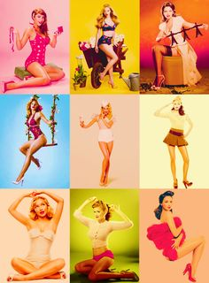 Modern day Pin up girls.