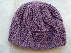Ravelry: irene522's Vanna's Choice Dusty Purple Waves A Head Hat