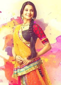 Different shades of Jennifer Winget: TV actress turns a year older : Tv Talks Bollywood Stars, Saris, Indian Dresses, Indian Outfits, I Love Fashion, Indian Fashion, Jennifer Winget Beyhadh, Indian Princess, Jennifer Love