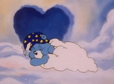 Care Bears cute moment of the day: Bedtime Bear goes back to sleep… Light Blue Aesthetic, Aesthetic Gif, Aesthetic Pictures, Peach Aesthetic, Care Bears, Cute Disney Wallpaper, Cartoon Wallpaper, Vintage Cartoon, Cute Cartoon