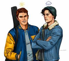 Jughead or Archie? Watch Riverdale, Riverdale Cw, Riverdale Memes, Riverdale Aesthetic, Archie Comics Riverdale, Riverdale Characters, Cole Sprouse, Archie Andrews, Fan Art
