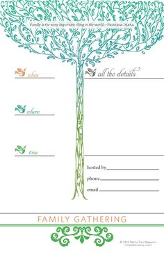 Family Reunion Invitations, Signs and Nametags | ShopFamilyTree