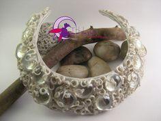 """Collare rigido """"Acchiappasole"""" bianco perlato : Collane di ithilyen-heartbeatjoux"""