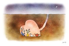 """Taking some time.""  Illustration by Michael Leunig.  I love his work so much."
