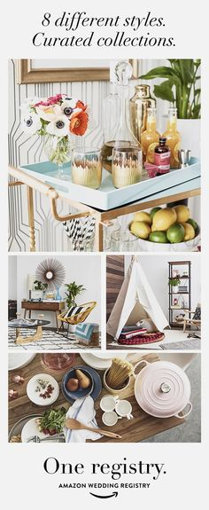 Want to shop your unique style? Amazon Wedding Registry has you covered. From Eclectic Entertaining to Hollywood Chic, we have created looks and lists you can use to jump-start your beautiful together life.