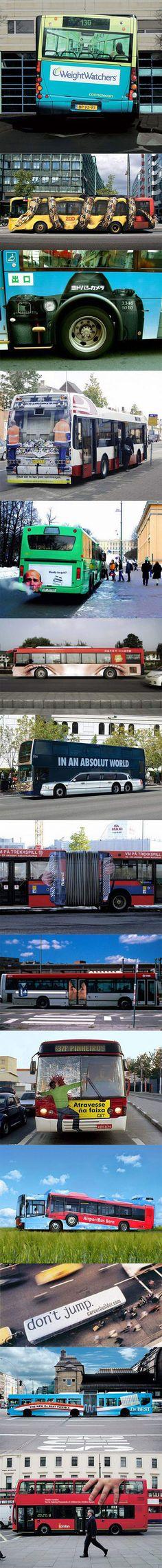 Ingeniosos anuncios en autobuses